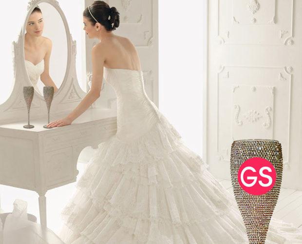 greeksandals - Χειροποίητα ποτήρια γάμου Swarovski